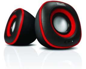 Speaker KLIP KES-215R 6W Neg/rojo/usb/2.0
