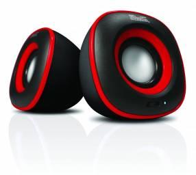 Speaker KLIP KES-215R 6W Negro/rojo/usb/2.0