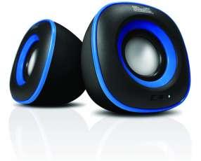 Speaker KLIP KES-215A 6W Negro/azul/usb/2.0