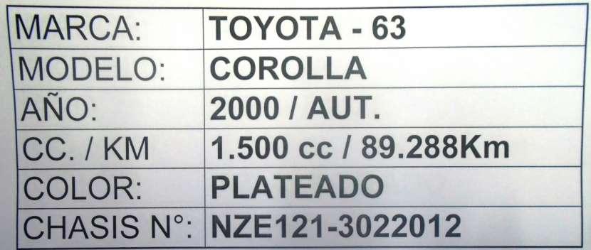Toyota Corolla 2000 motor 1500 naftero automático - 8