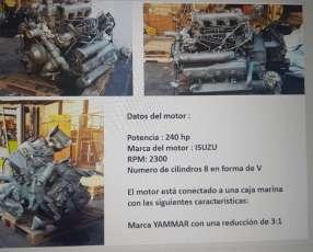 Motor Isuzu 240 HP de 2300 rpm