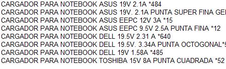 Cargadores para notebook - 1
