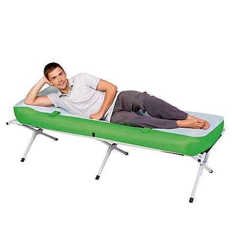 Cama plegable con colchón inflable y almohada incorporada