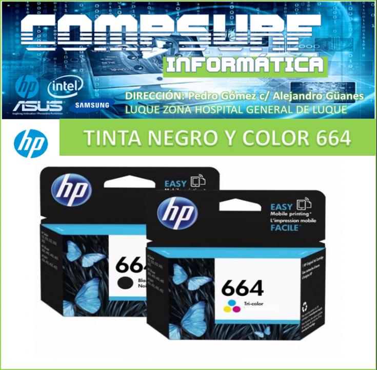 Tintas Hp negro color 664