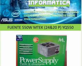 Fuente 550W MTEK 24&20 P YQ550
