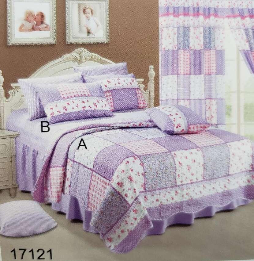 Kit 7 piezas con cubre cama
