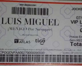 Entrada concierto Luis Miguel 7 de marzo 2019