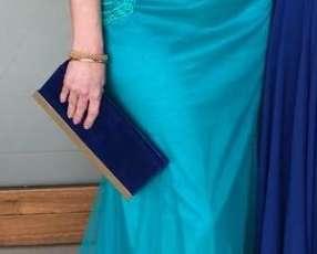 Vestido bordado largo