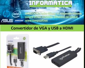 Convertidor de VGA y USB a HDMI
