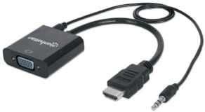 Convertidor HDMI VGA Audio manhattan - 0
