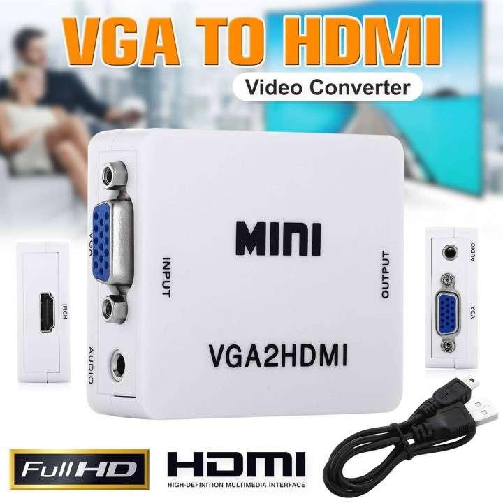 Adaptador VGA a HDMI c/Audio