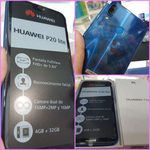Huawei P20 Lite azul 32 gb nuevo - 0