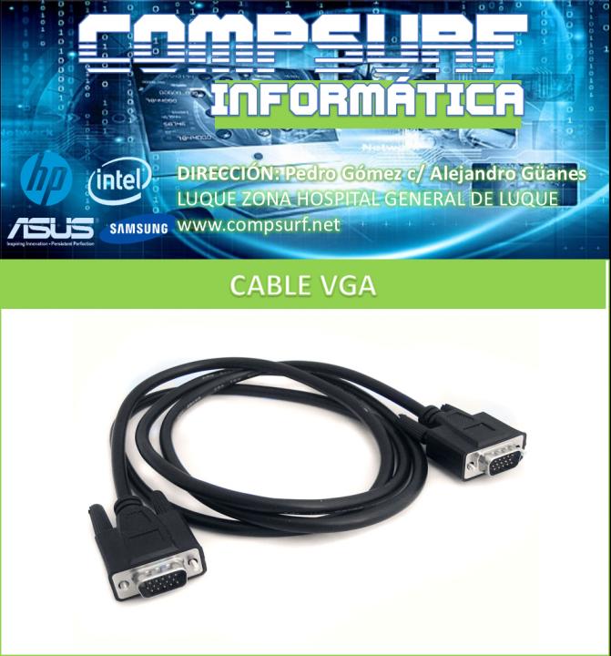 Cable VGA de 1,80 mts