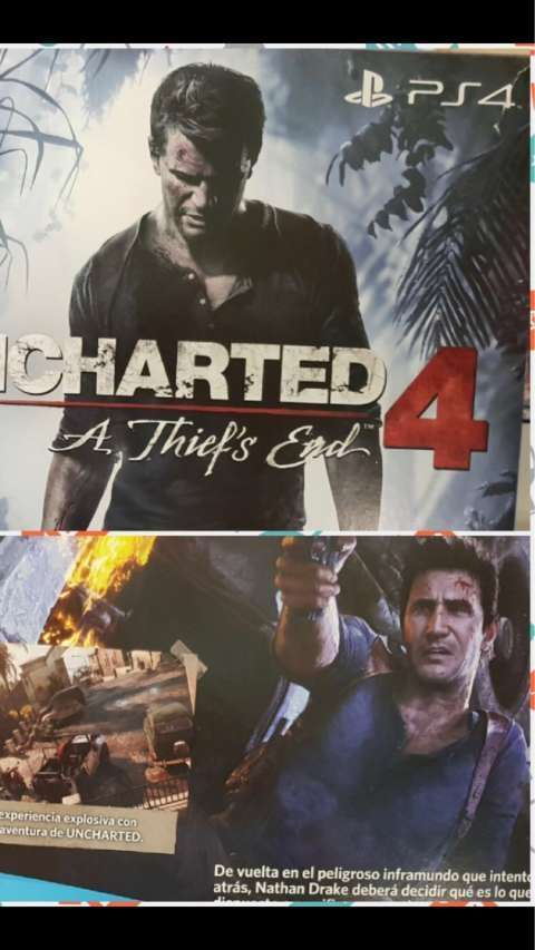 PS4 Slim de 500 gb con Uncharted 4