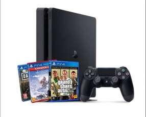 PS4 slim 1TB y 3 juegos