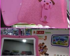 Tablet Family rosa wifi y funda personalizada nuevo