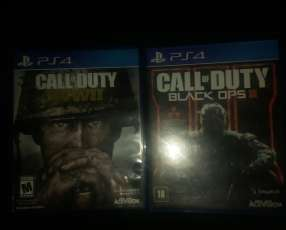 Call of duty black ops 3 y call of duty ww2 PS4