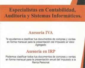 Servicio de contabilidad IVA IRP IRPC