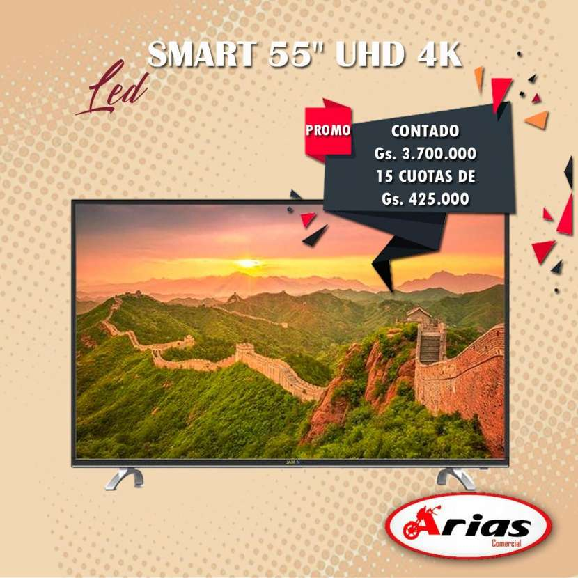 TV LED Smart UHD JAM 4K 55 pulgadas - 0
