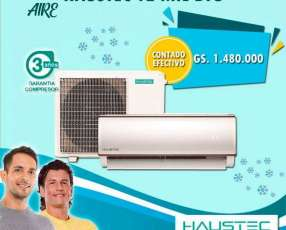 Aire acondicionado split Haustec 12.000 btu gas ecológico