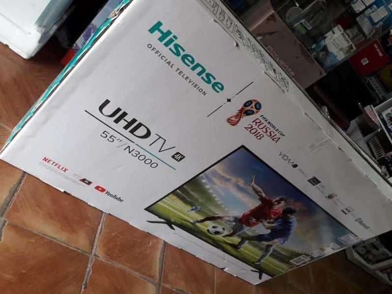 Tv led smart Hisense full UHD 4k de 55 pulgadas - 0