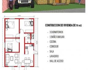 Construcción de vivienda 70 m2