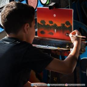 Dibujo y pintura con Porfirio Busto
