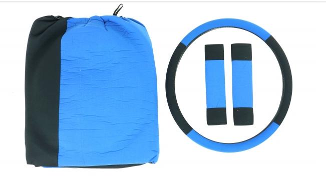 Set Forro para Vehículo Azul con Negro