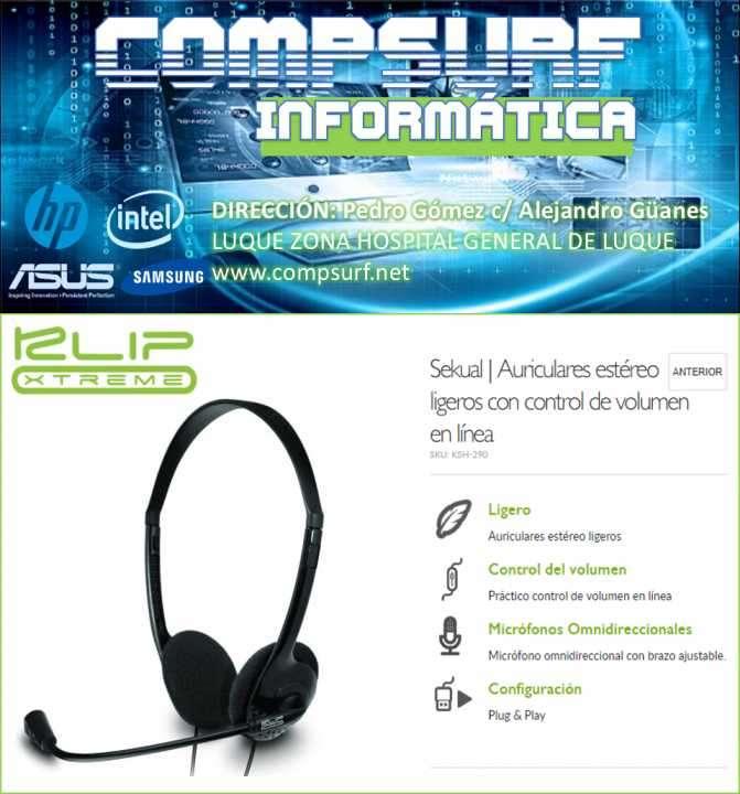 Auricular Klip Headset