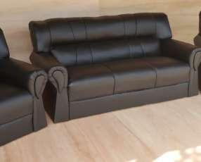 Sofá de cuerina en cuotas