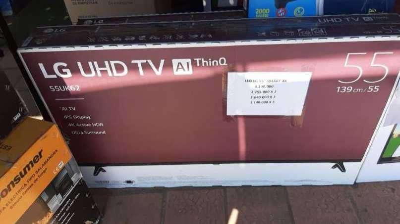 TV LED Smart LG full UHD 4k de 55 pulgadas - 0