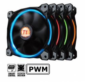 Cooler Thermaltake riing 14 led green radiator fan
