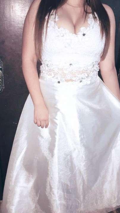 Vestido Blanco de dos piezas