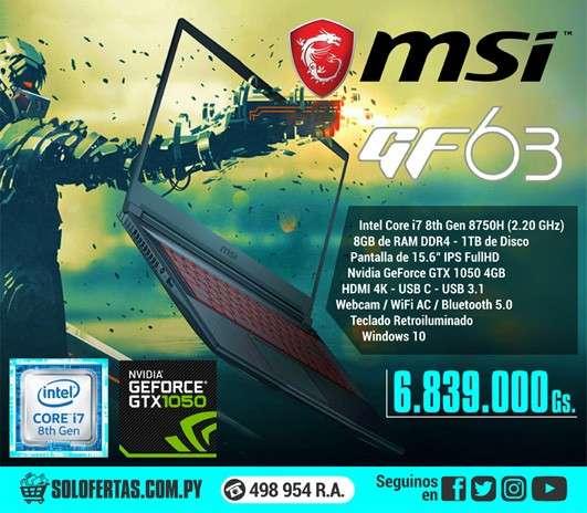 Notebook gamer MSI GF63