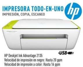 Impresora multifunción hp 2135 + resma de papel