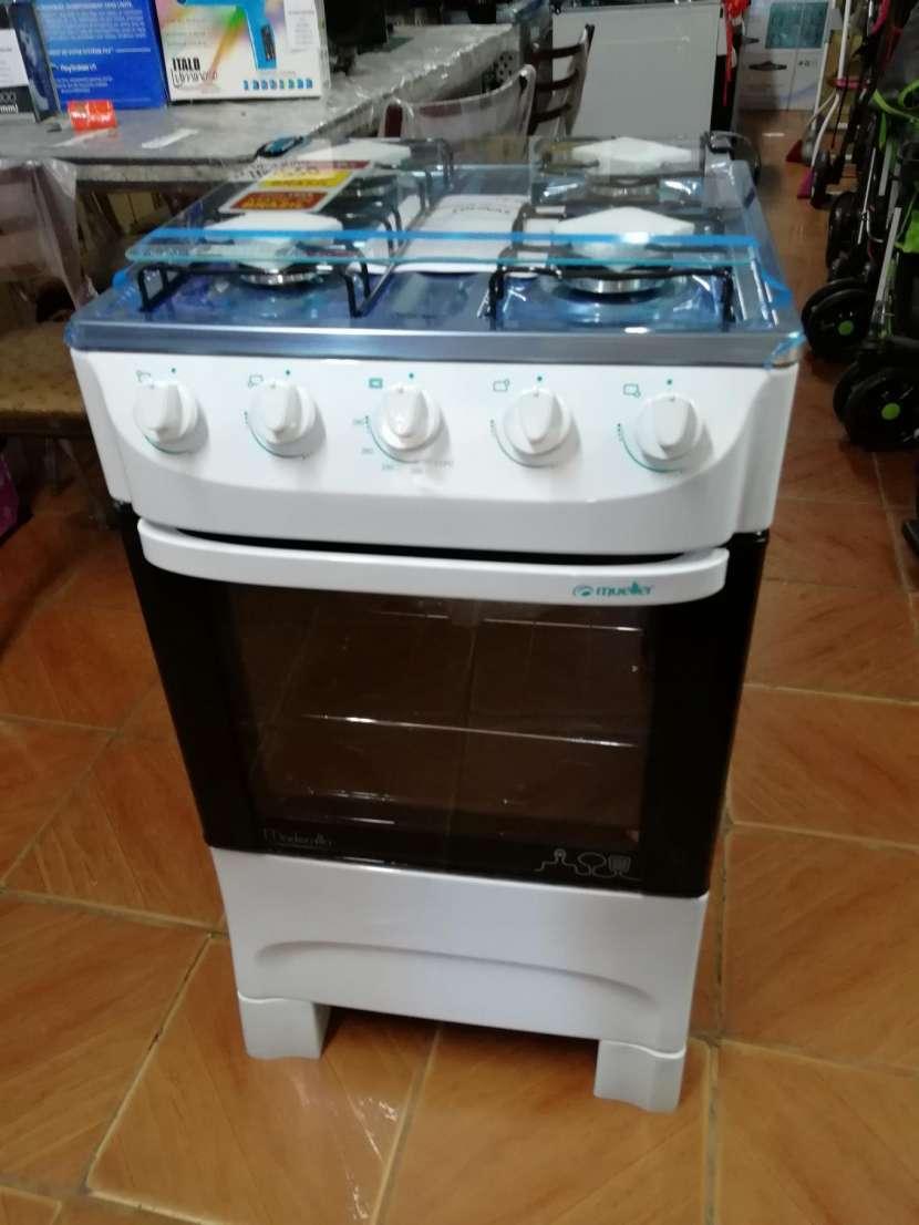 Cocina mueller moderatto 4 hornallas blanco - 1