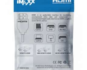 Cable HDMI 2 MTS IMEXX (19349)