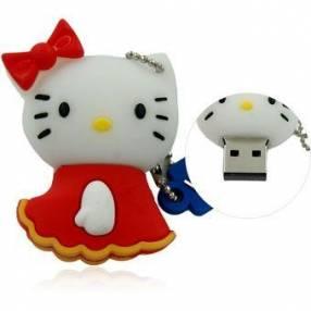 Pendrive 8 gb diseño hello kitty rojo