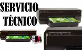 Servicio técnico impresora hp 7110 w A3 e insumos