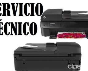 Servicio técnico impresora hp 4645 w multifunción e insumos