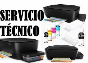 Servicio técnico impresora hp 5810gt multifunción tinta continua