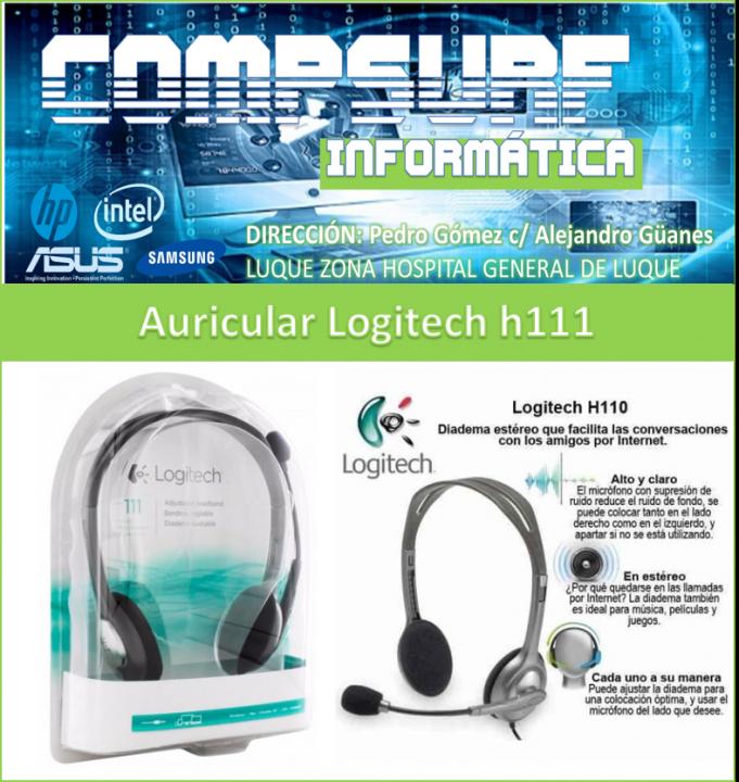 Auriculares estéreo Logitech H111