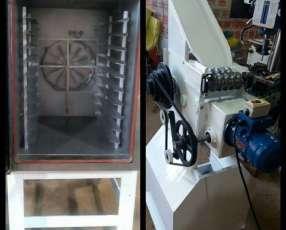 Horno de 10 bandejas y cortadora de palitos kokitos