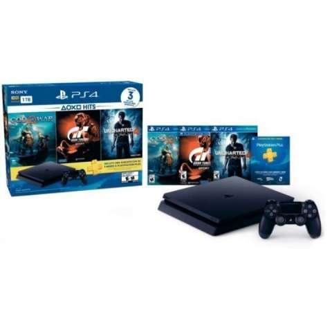 Consola Sony PlayStation 4 slim 1TB + 3 juegos - 1