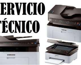 Servicio técnico impresora Samsung láser m2070fw multifunción 220v e insumos