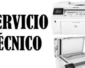 Servicio técnico impresora hp láser m227dw mfp pro multifunción e insumos