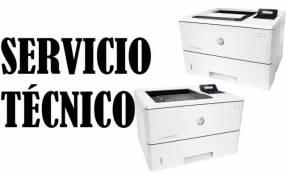 Servicio técnico impresora hp láser m553dn enterprise color e insumos