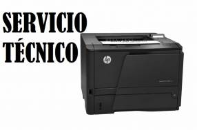 Servicio técnico impresora hp láser m402dne pro 400 e insumos
