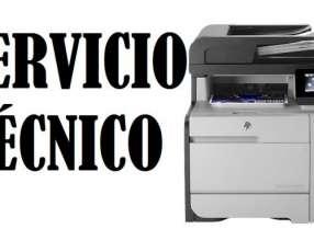 Servicio técnico impresora hp láser m476dw mfp pro color multifunción
