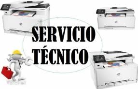 Servicio técnico impresora hp láser m277dw mfp pro color multifunción e insumos